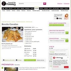 Gavottes : la recette avec L'Internaute