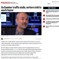 As Gawker traffic stalls, writers told to work faster