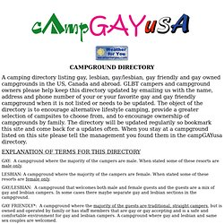 Gay Friendly Campgrounds 63