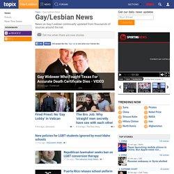 Gay/Lesbian News