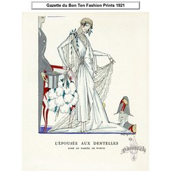Gazette du Bon Ton Antique Fashion Prints 1912-1913