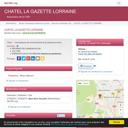 CHATEL LA GAZETTE LORRAINE - VILLERS LES NANCY