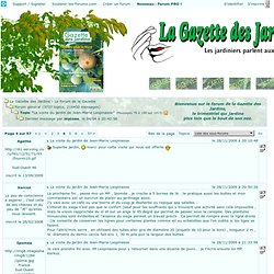 "Topic ""La visite du jardin de Jean-Marie Lespinasse"""