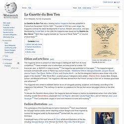 La Gazette du Bon Ton