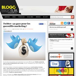 [BlogoErgosume] Twitter : ça gaze pour les gazouillis marketing !