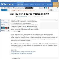 GB: feu vert pour le nucléaire civil