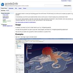 gcode2vtk - a Makerbot/Reprap/Skeinforge gcode to vtk file converter