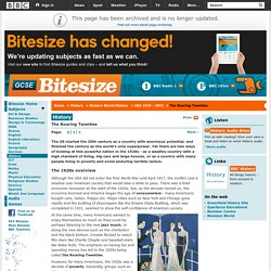 GCSE Bitesize: The 1920s overview