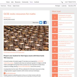 GCSE resits: resources for maths