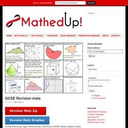 GCSE Revision mats - MathedUp!
