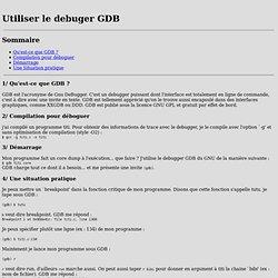 gdb tutorial