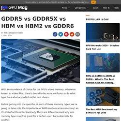 GDDR5 vs GDDR5X vs HBM vs HBM2 vs GDDR6 [Simple Guide]