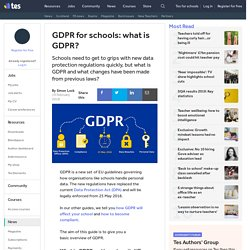 GDPR for schools: what is GDPR?