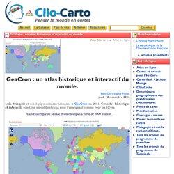 GeaCron : un atlas historique et ... - Clio-Carto