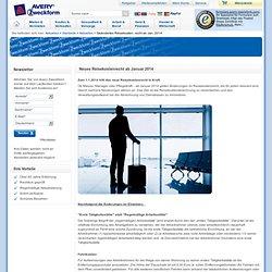 Geändertes Reisekostenrecht ab Januar 2014