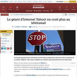 Le géant d'Internet Yahoo! ne croit plus au télétravail