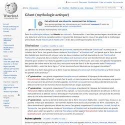 Géant (mythologie aztèque)