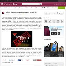 Loi SOPA : les géants du Web boycottent la nouvelle loi !