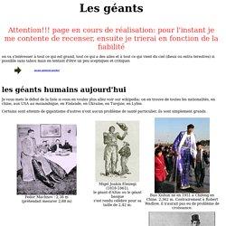 géants historiques et mythiques