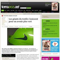 Les géants du textile s'unissent pour un avenir plus vert