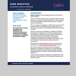 Gear Analytics - Who we are