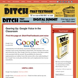 DTTB 21 Ways to Use Google Voice in the Classroom