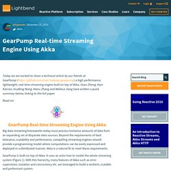 GearPump Real-time Streaming Engine Using Akka