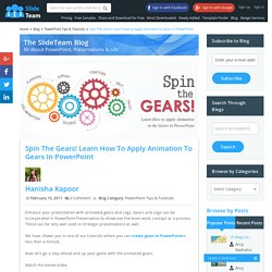 Spin The Gears! Learn How to Apply Animation to the Gears