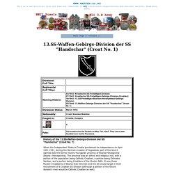 """""""13.SS-Waffen-Gebirgs-Division der SS """"Handschar"""" (Croat No. 1) """""""