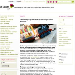 Geburtstagszug: Wie der BGH den Design-Schutz erweitert – iRights.info