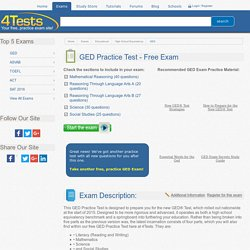 4Tests.com - Free, Practice GED Exam
