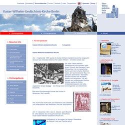 Kaiser-Wilhelm-Gedächtnis-Kirche Berlin Kirchengebäude Startseite