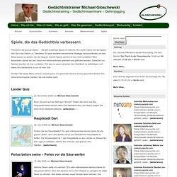 Gedächtnistrainer Michael Gloschewski