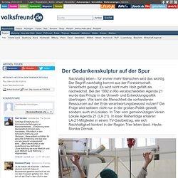Der Gedankenskulptur auf der Spur - volksfreund.de