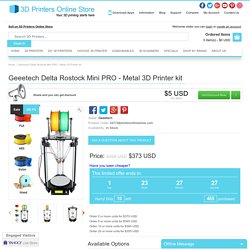 Geeetech Metal Delta Rostock Mini G2 PRO - Auto Leveling and Dual Head