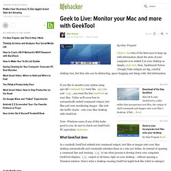 Geek to Live: Monitor your Mac and more with GeekTool