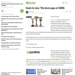 Geek to Live: The best apps of 2006 - Lifehacker