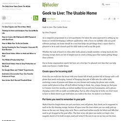 Geek to Live: The Usable Home