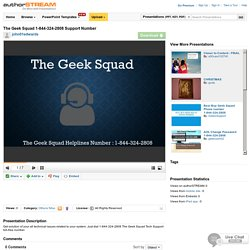 The Geek Squad 1-844-324-2808 Support Number