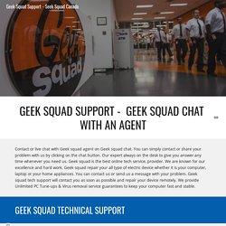 Geek Squad Support - Seek Squad Canada