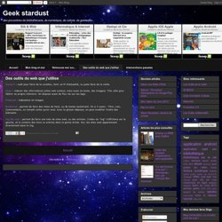 Des outils du web que j'utilise