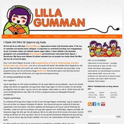I Geek Girl Mini lär tjejerna sig koda - Lilla gumman