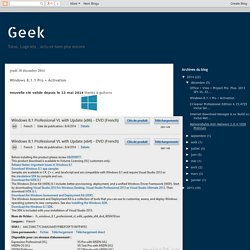 Geek: Windows 8.1.1 Pro + Activation