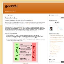 geekRai: Websocket in Java