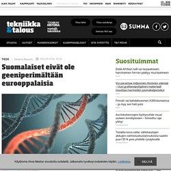 Suomalaiset eivät ole geeniperimältään eurooppalaisia