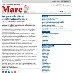 Zorgen om instituut LUCAS Geestenwetenschappen 2014/10/01/