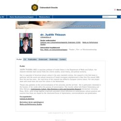 dr. Judith Thissen - Geesteswetenschappen
