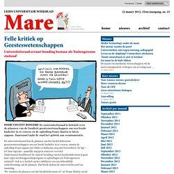 Felle kritiek op Geesteswetenschappen 2012/03/21