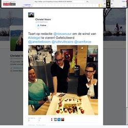 """Christel Voorn on Twitter: """"Taart op redactie @nieuwsuur om de winst van #detegel te vieren! Gefeliciteerd @janeikelboom @ruthruthcairo @camforce"""