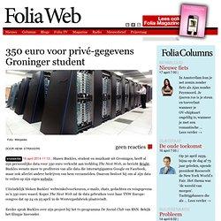 350 euro voor privé-gegevens Groninger student